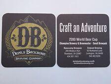 Beer Brewery Coaster: DEVIL'S BACKBONE Brewing Co Adventure ~ Roseland, VIRGINIA