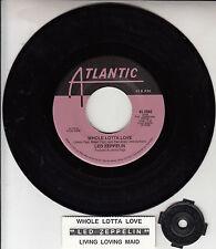 "LED ZEPPELIN  Whole Lotta Love & Living Loving Maid 7"" 45 rpm record NEW RARE!"