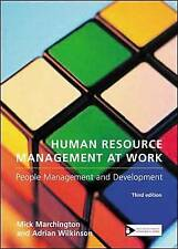 Human Resource Management at Work, Marchington, Mick, Used; Good Book