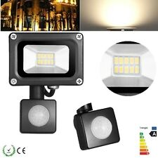10W IP65 PIR Motion Sensor LED Flood Light Warm White Lamp Outdoor Floodlight