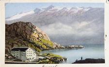 c1870 Schweiz Switzerland Grimselpass Kolorierte Aquatinta Ansicht Dikenmann