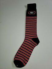 Georgia Bulldogs NCAA Adult Black White & Red Crew Socks