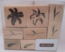 Close to my Heart CTMH Wood Stamps Brushstroke Flowers S688 NEW