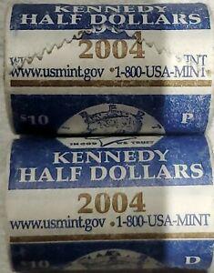2004 Kennedy Half Dollar  2 Roll  P&D Set