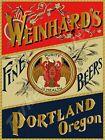 """WEINHARD'S FINE BEERS PORTLAND OREGON 9"""" x 12"""" METAL SIGN"""