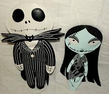 Jack Skellington Nightmare Before Christmas 2 Hanging Dolls New NOS 2007 NECA