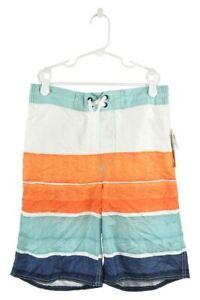 Old Navy Boys Swimwear Board Shorts 14 Blue Polyester