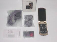 Posh Lynx Plus A110 GSM Unlocked SMALL flip phone Black Dual Sim Card