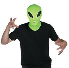 Green Alien Martian Hood Mask Scare Costume Space Birthday Halloween Party Event