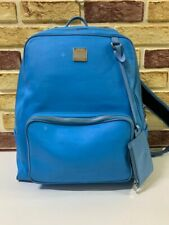 100% Authentic MCM Blue Canvas Medium  Backpack