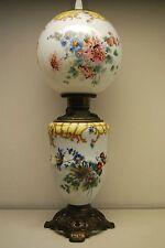ANTIQUE OLD OIL KEROSENE FOSTORIA GLASS VICTORIAN BANQUET LIGHTING GWTW LAMP