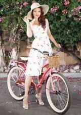 Stop Staring strawberry print white vintage 1950s dress BNWT Size Medium UK 10