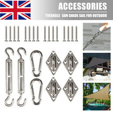 More details for sun shade sail fixing hardware accessories kit garden patio sunscreen canopy