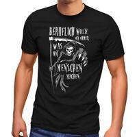 Herren T-Shirt Sensemann Spruch lustig schwarzer Humor Ironie Sarkasmus