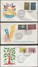 LUXEMBOURG 1959-68 EUROPA FDC's (x6) (ID:377/D54087)