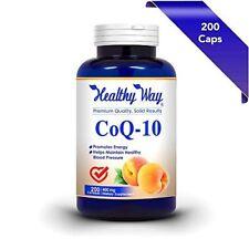 Pure CoQ10 400mg 200 Capsules Max Strength NON-GMO & Gluten Free