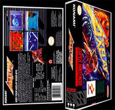 Axelay - SNES Reproduction Art Case/Box No Game.