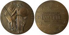 ASSURANCE L' ABEILLE CENTENAIRE 1856 - 1956 LE DESTIN FRAPPE LA SAGESSE VEILLE