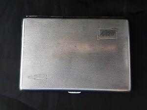 Silver plated cigarette case