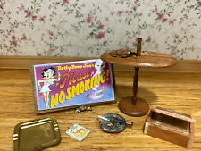 Miniature Dollhouse Vintage Artisan Decor Collection Man Cave Smoking Room Items