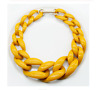 Acrylic Chunky Chain Choker Necklace Long Chain Link Big Pendants Necklaces