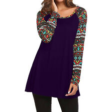 Fashion Women's Loose Long Sleeve Cotton Casual Blouse Shirt Tunic Tops Pullover