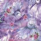 TULLE & PETALS lavender floral by Fabri-Quilt 100% cotton fabric by the yard
