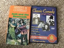 DVD Classic Comedy 4 Movies Abbot/Costello Laurel/Hardy Powell WC Fields, plus 1