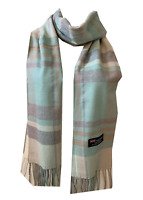 New Winter Womens Mens 100% Cashmere Wool Wrap Scarf Plaid Scarves (#40)
