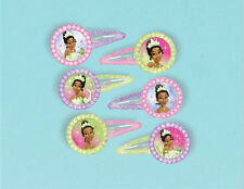 TIANA BARRETS Disney Princess & Frog birthday party supplies 12 GLITTER HAIRCLIP