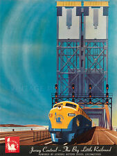 JERSEY CENTRAL Vintage American Railroad Travel Canvas Print 21X28