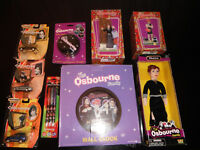 HUGE LOT The ozzy Osbourne Family the OSBOURNES TOY CARS CLOCK PENS AND MORE
