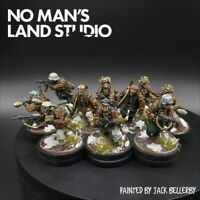 Pro Painted 28mm Bolt Action Waffen ss (winter) squad #1 ×10 Ww2 Warlord Games