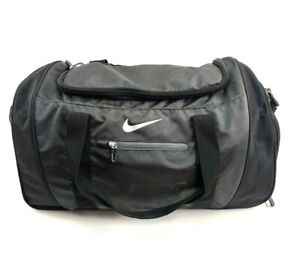 "Nike RN#56323 Gray 100% Polyester Zipper Shoulder Strap Duffle Bag ""P Patch Used"