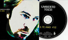 UMBERTO TOZZI CD single PROMO in SPAGNOLO Te amo 1 tr.