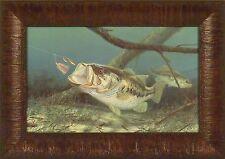 UNHAPPY CAMPER by Randy McGovern 11x15 Largemouth Bass Fish FRAMED PRINT FISHING
