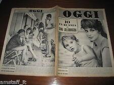 RIVISTA OGGI 1961/31=GINA LOLLOBRIGIDA=WALTER CHIARI=MINA=I SEGRETI CAROSELLO=