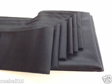 6ft / 6x3 BLACK Quality WOOL POOL CLOTH Bed & 6 x Cushions Strips- For UK Tables