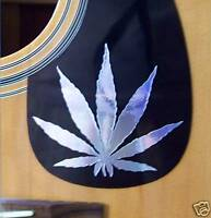 Guitar Pick Guard Decal Marijuana Leaf Vinyl Decal Musical Instruments