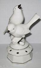Dresden Bird Vase Vintage Figurine Flower arrangement holder Collectible Birds