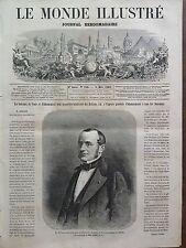 LE MONDE ILLUSTRE 1862 N 256 M. ADOLPHE BILLAULT, MINISTRE SANS PORTEFEUILLE
