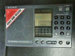 Sony ICF-SW7600 Shortwave, AM FM MW Radio and SSB PLL SYNTHESIZED