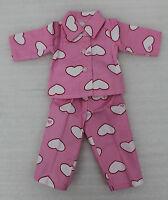 Rosa Puppen Schlafanzug für 45 cm Puppen 2-Teiler