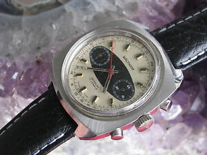 Waltham Vintage Stainless Steel Chronograph Watch, Surfboard Dial, Valjoux 7733