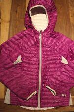 Eddie Bauer Girls S 7-8 Microtherm Down Coat Jacket Hooded