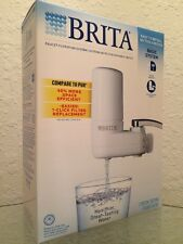 New Brita White On Tap Faucet Water Filtration System + Filter