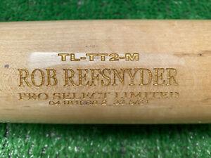 MINNESOTA TWINS ROB REFSNYDER GAME USED BASEBALL BAT
