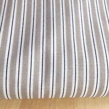 Shabby Chic Grey/blue stripe 100% Cotton Fabric. Price per 1/2 meter