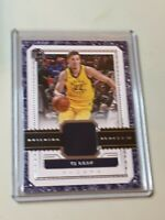 F40749 2017-18 Panini Cornerstones Building Blocks Jersey #23 TJ Leaf Pacers