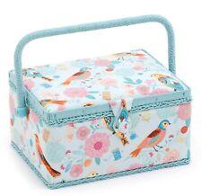 SEWING BASKET BOX 'BIRDSONG' DESIGN Medium Size Very Pretty